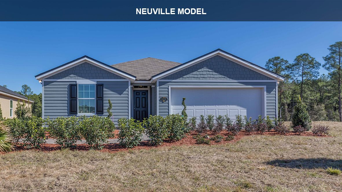 Exterior featured in the NEUVILLE By D.R. Horton in Jacksonville-St. Augustine, FL