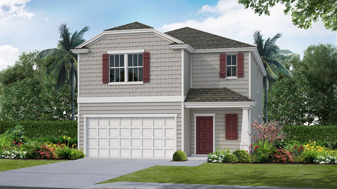 Exterior featured in the SUNNYDALE By D.R. Horton in Jacksonville-St. Augustine, FL