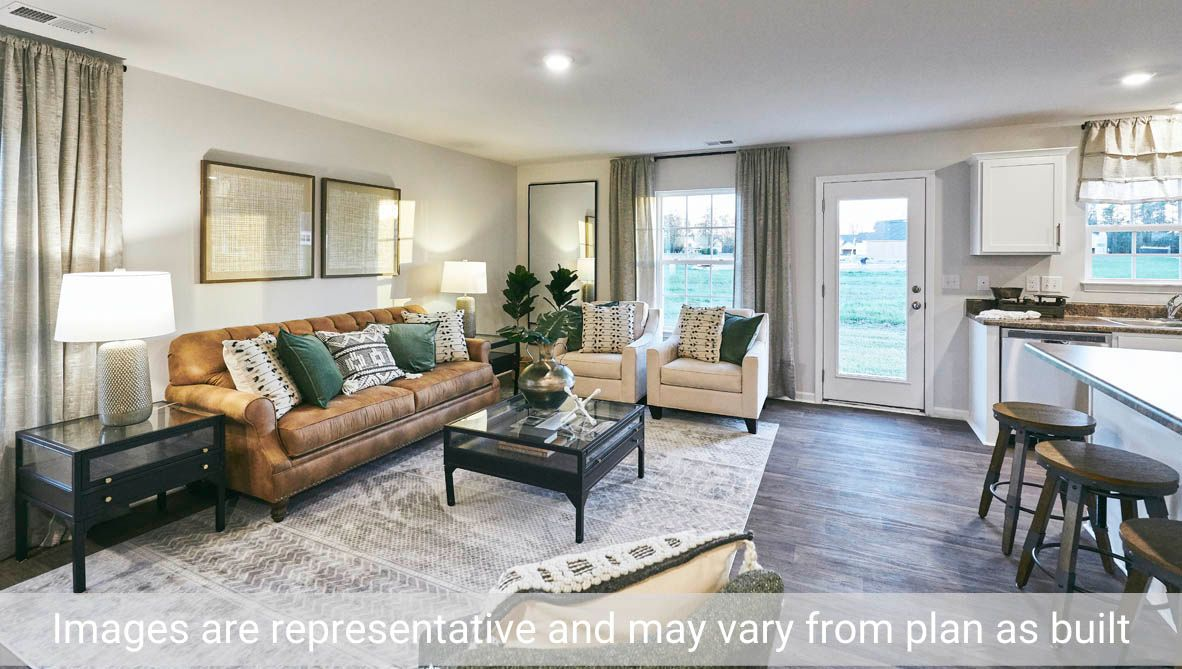 Living Area featured in the Holly By D.R. Horton in Greenville, NC