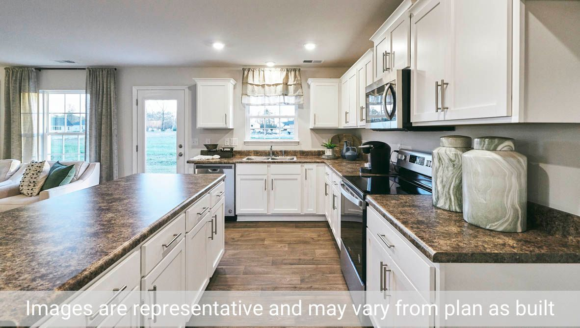 Kitchen featured in the Holly By D.R. Horton in Greenville, NC