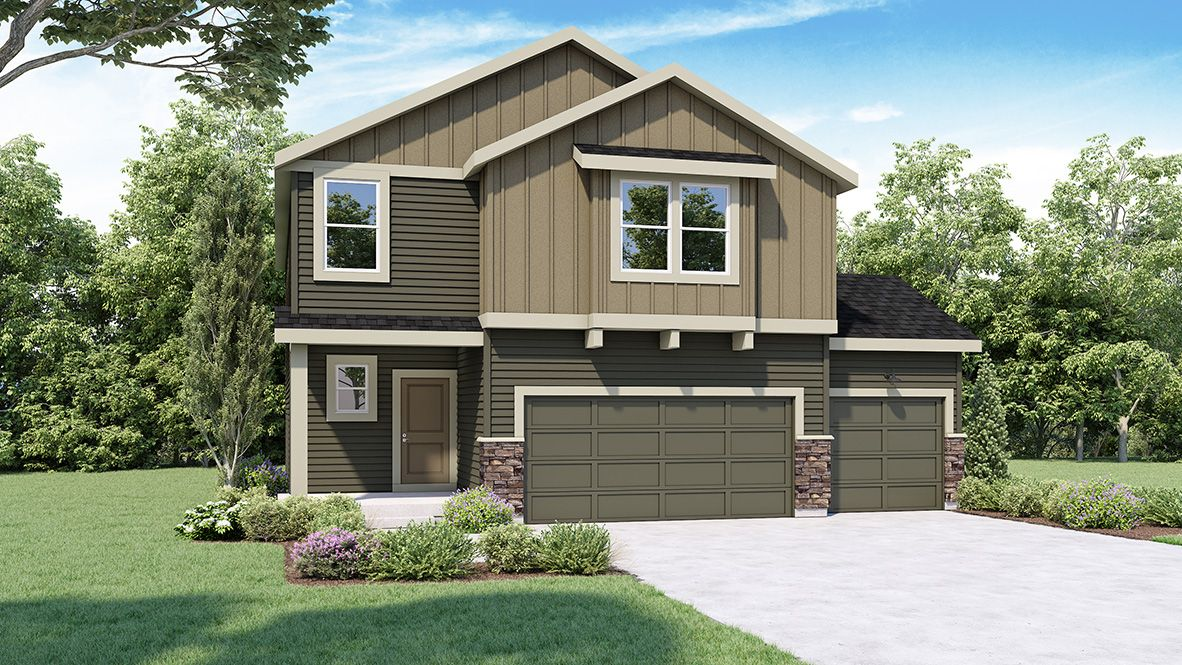 Exterior featured in the CAMBRIDGE By D.R. Horton in Spokane-Couer d Alene, WA