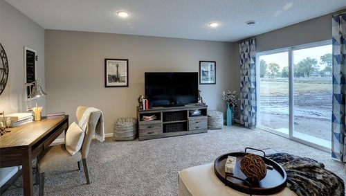 Recreation-Room-in-Rushmore-at-Copper Ridge Raised Ranch Homes-in-Woodbury