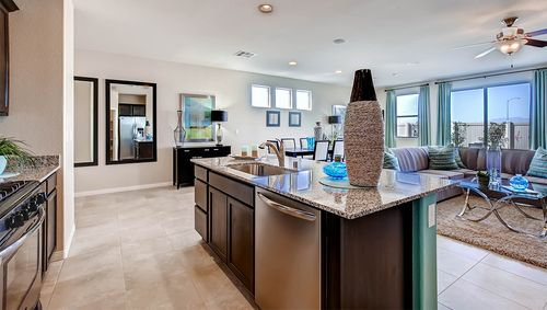 Greatroom-and-Dining-in-1600 Plan-at-Mosaic Falls-in-Las Vegas