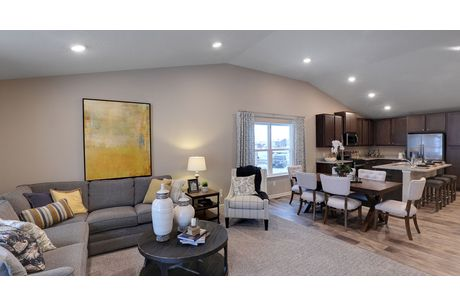Greatroom-and-Dining-in-Everett-at-Copper Ridge Raised Ranch Homes-in-Woodbury