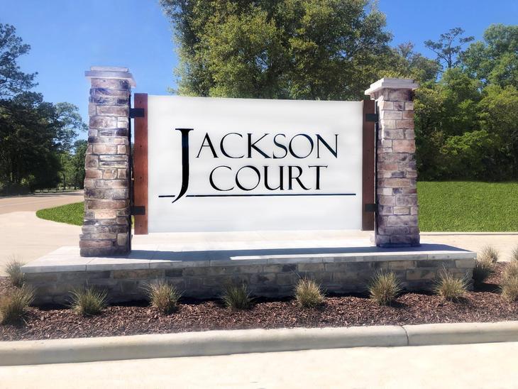 Jackson Court Community Entrance Monument - DSLD Homes - Covington