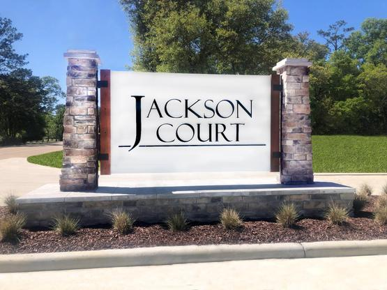 Jackson Court Community Entrance Monument - DSLD Homes - Covington