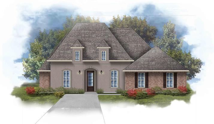 Raphael III A Open Floorplan Elevation Image - DSLD Homes
