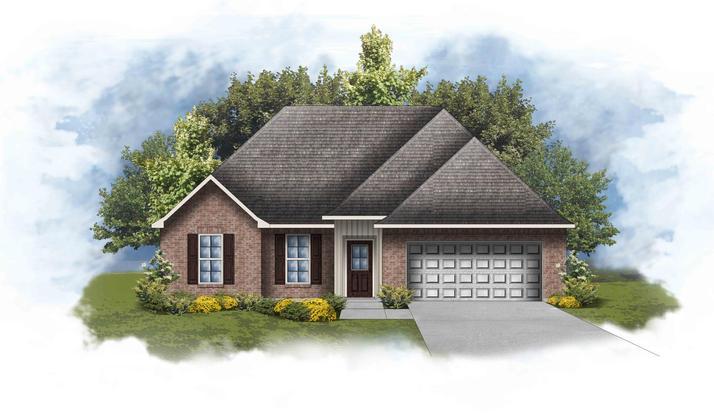 Ripley IV H - Front Elevation - Open Floor Plan -DSLD Homes
