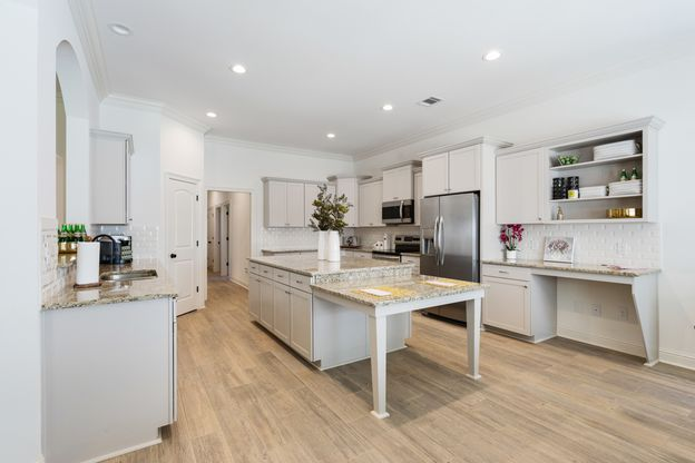 Kitchen in Model Home - DSLD Homes - The Crossings in Hammond