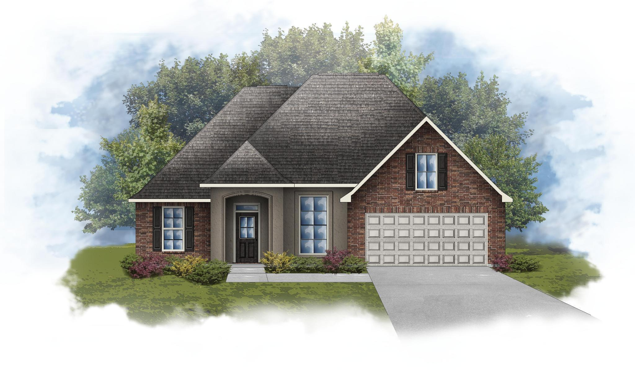 Exterior featured in the Rose IV A By DSLD Homes - Louisiana in Monroe, LA