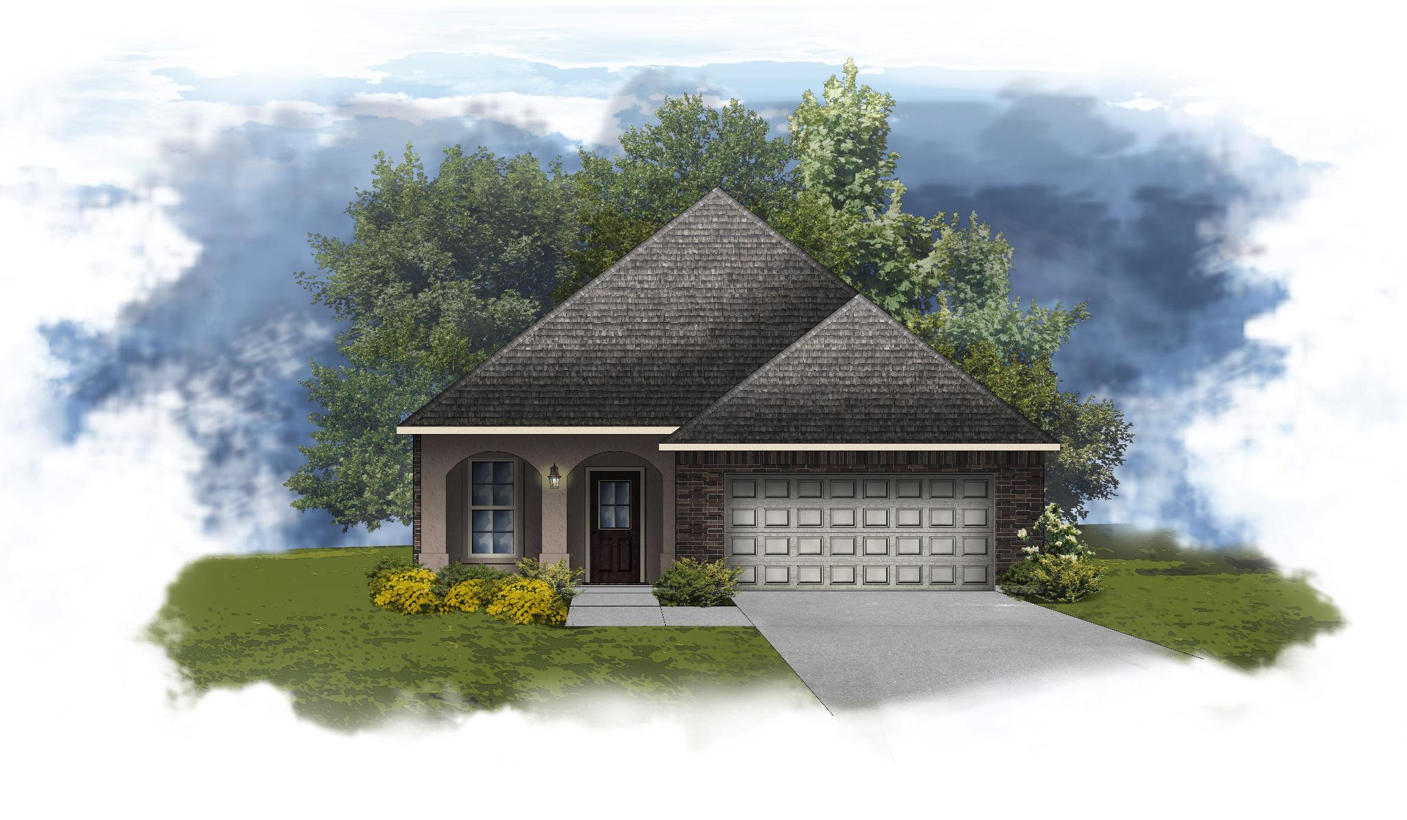 Exterior featured in the Freesia IV A By DSLD Homes - Louisiana in Shreveport-Bossier City, LA