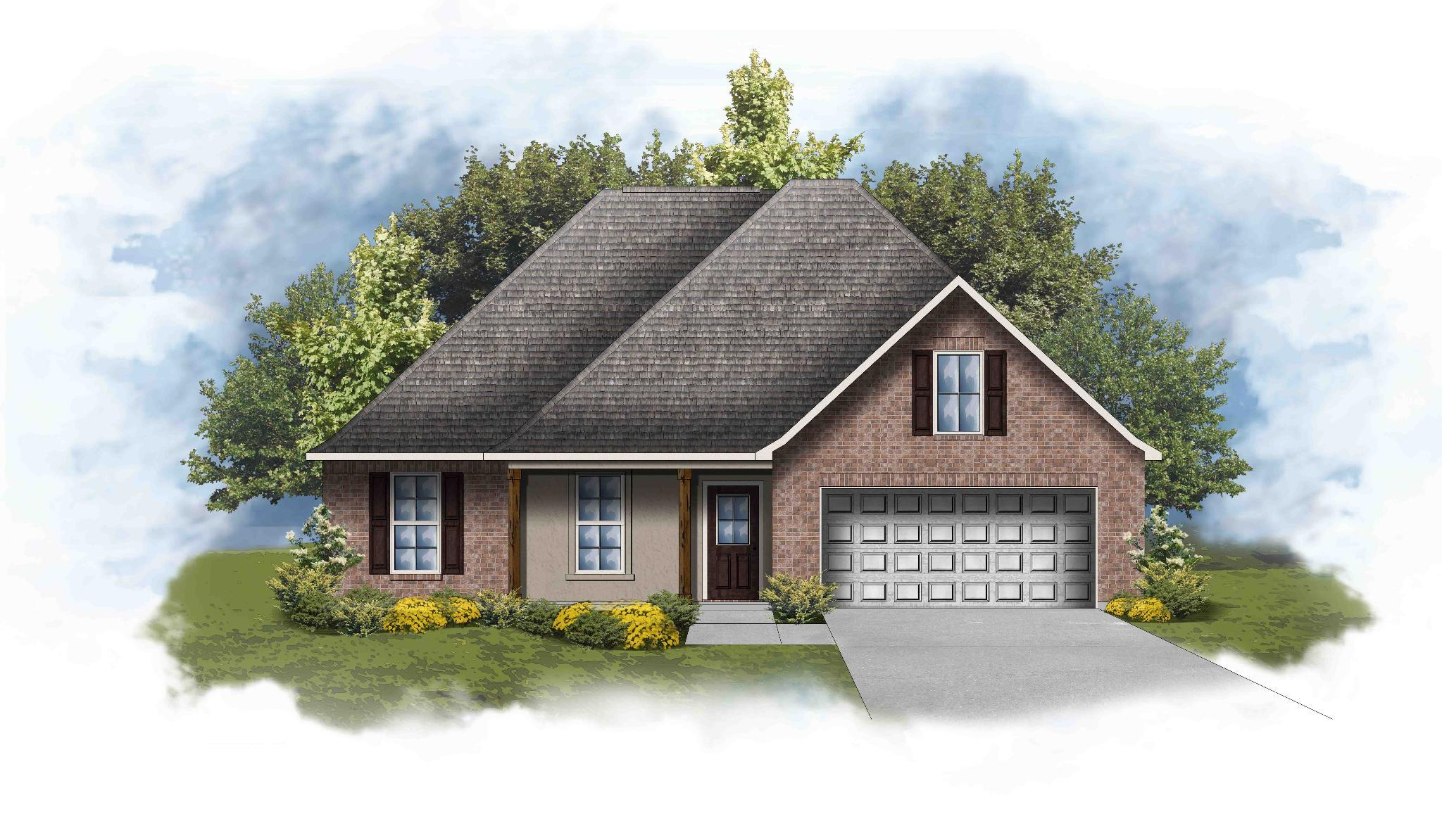 Exterior featured in the Redwood IV A By DSLD Homes - Louisiana in Lake Charles, LA