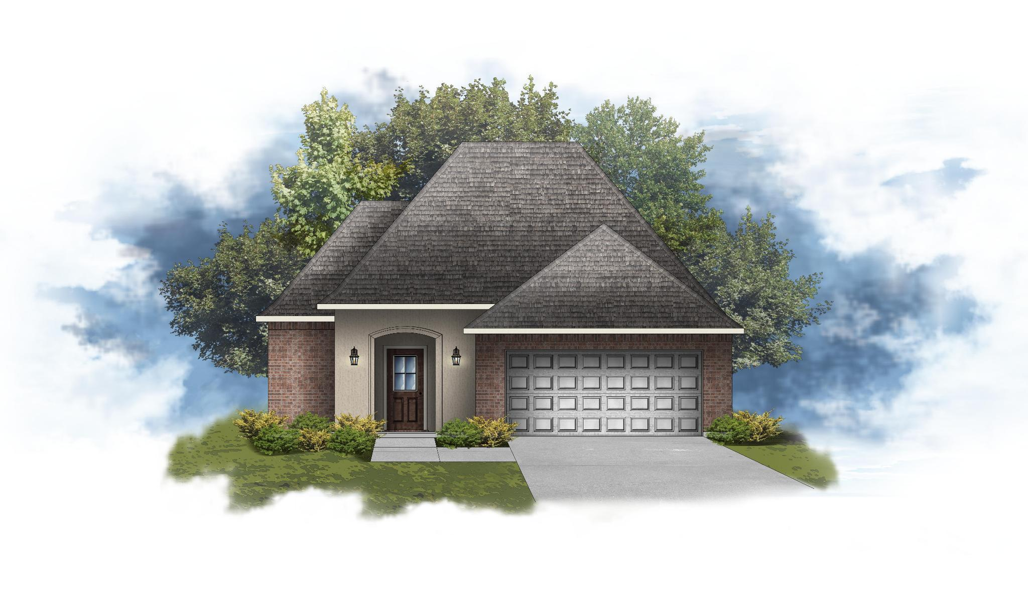 Exterior featured in the Begonia IV A By DSLD Homes - Louisiana in Shreveport-Bossier City, LA