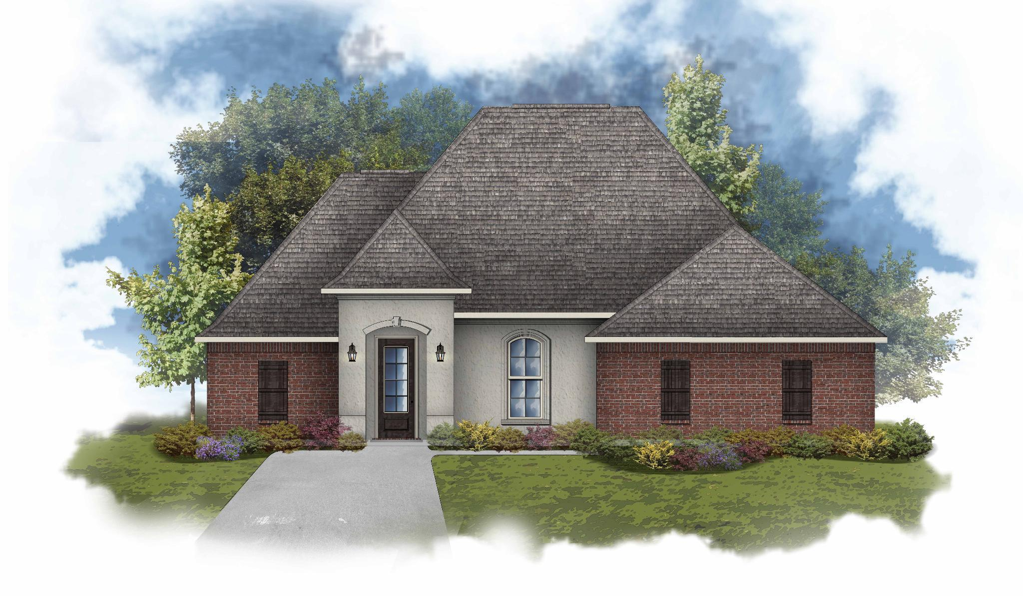 Exterior featured in the Claudet II A By DSLD Homes - Louisiana in Lafayette, LA