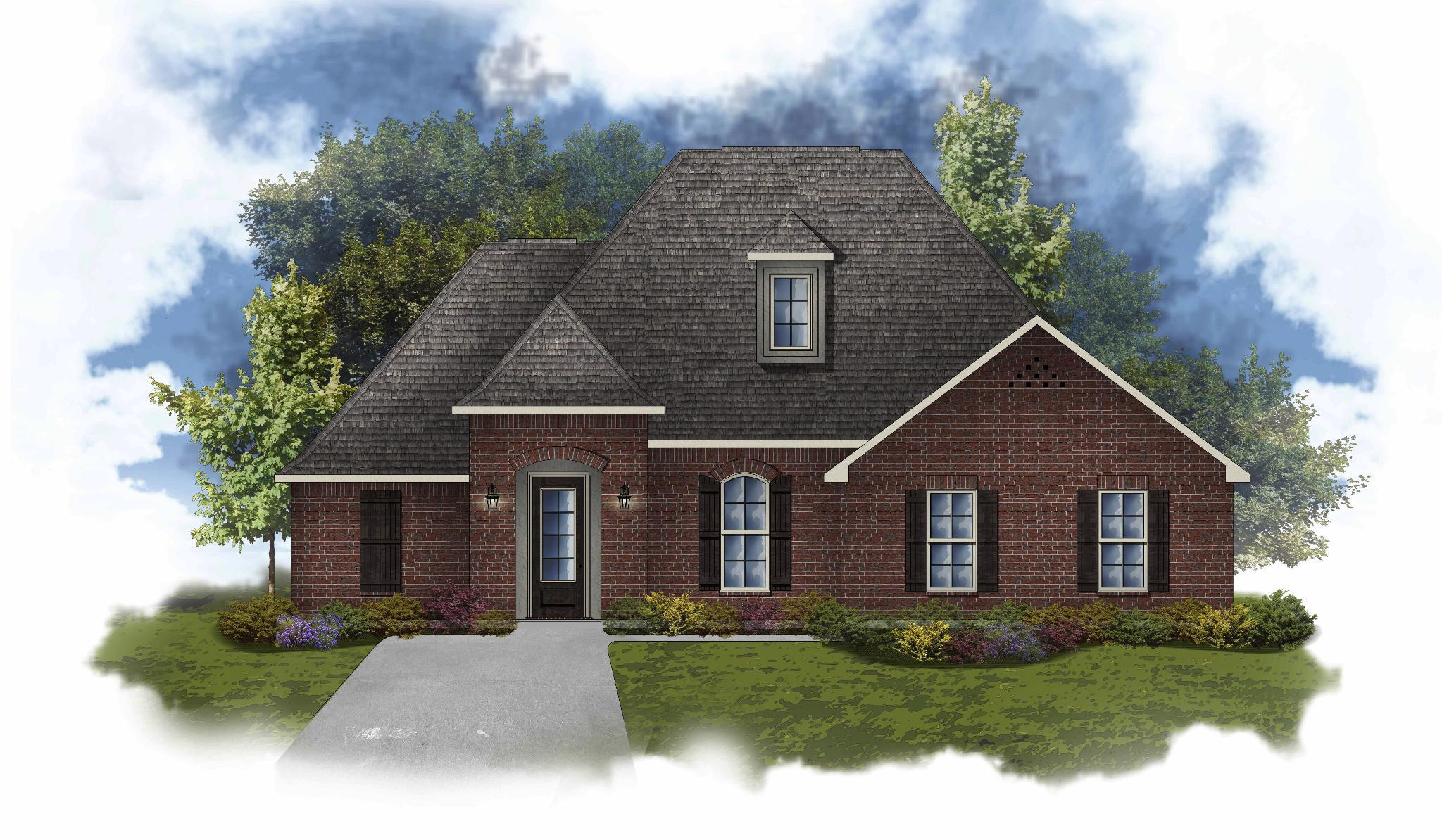 Exterior featured in the Claudet II B By DSLD Homes - Louisiana in Lafayette, LA