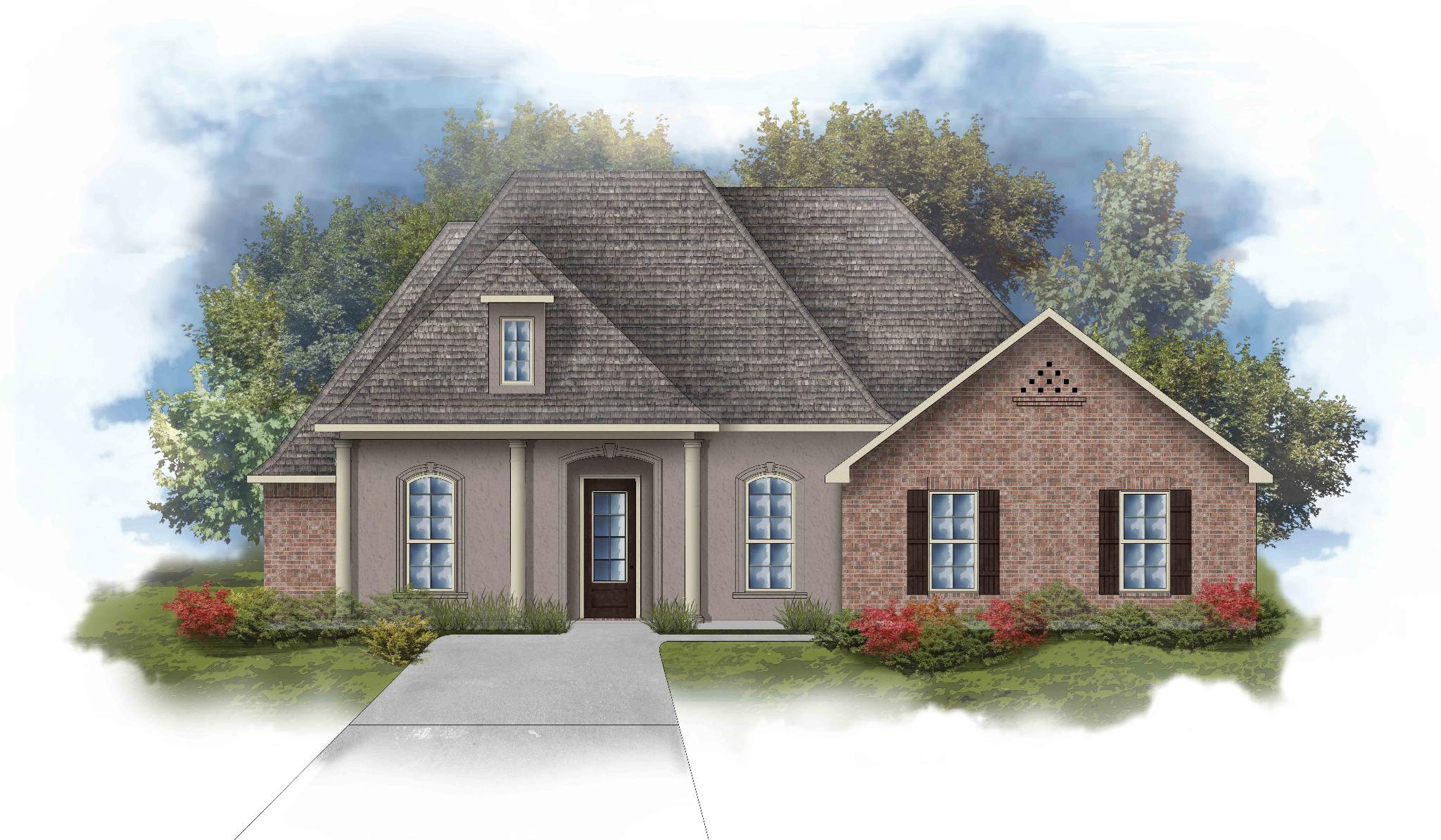 Exterior featured in the Renoir III D By DSLD Homes - Louisiana in Lafayette, LA