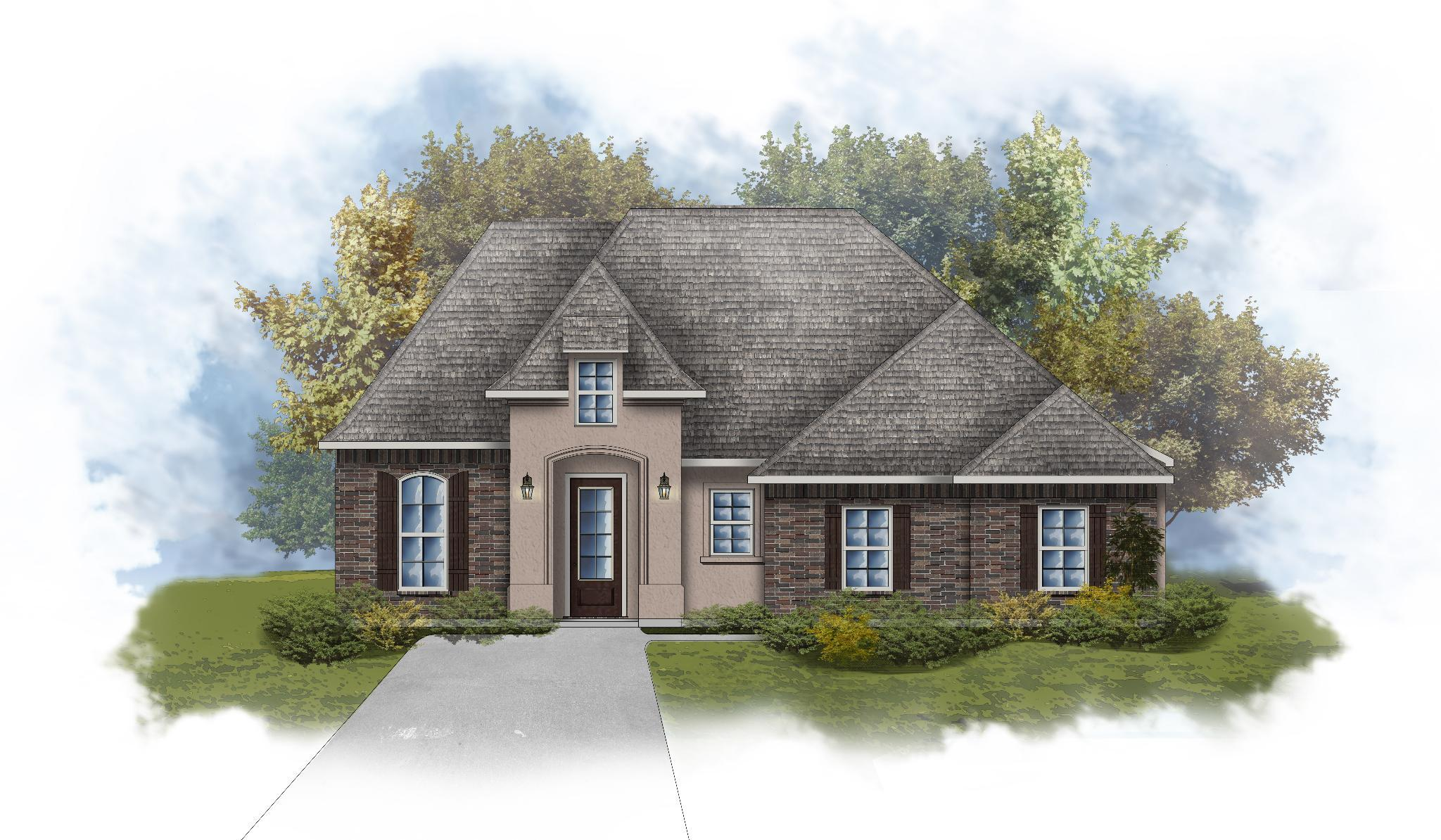 Exterior featured in the Lacombe III A By DSLD Homes - Louisiana in Baton Rouge, LA