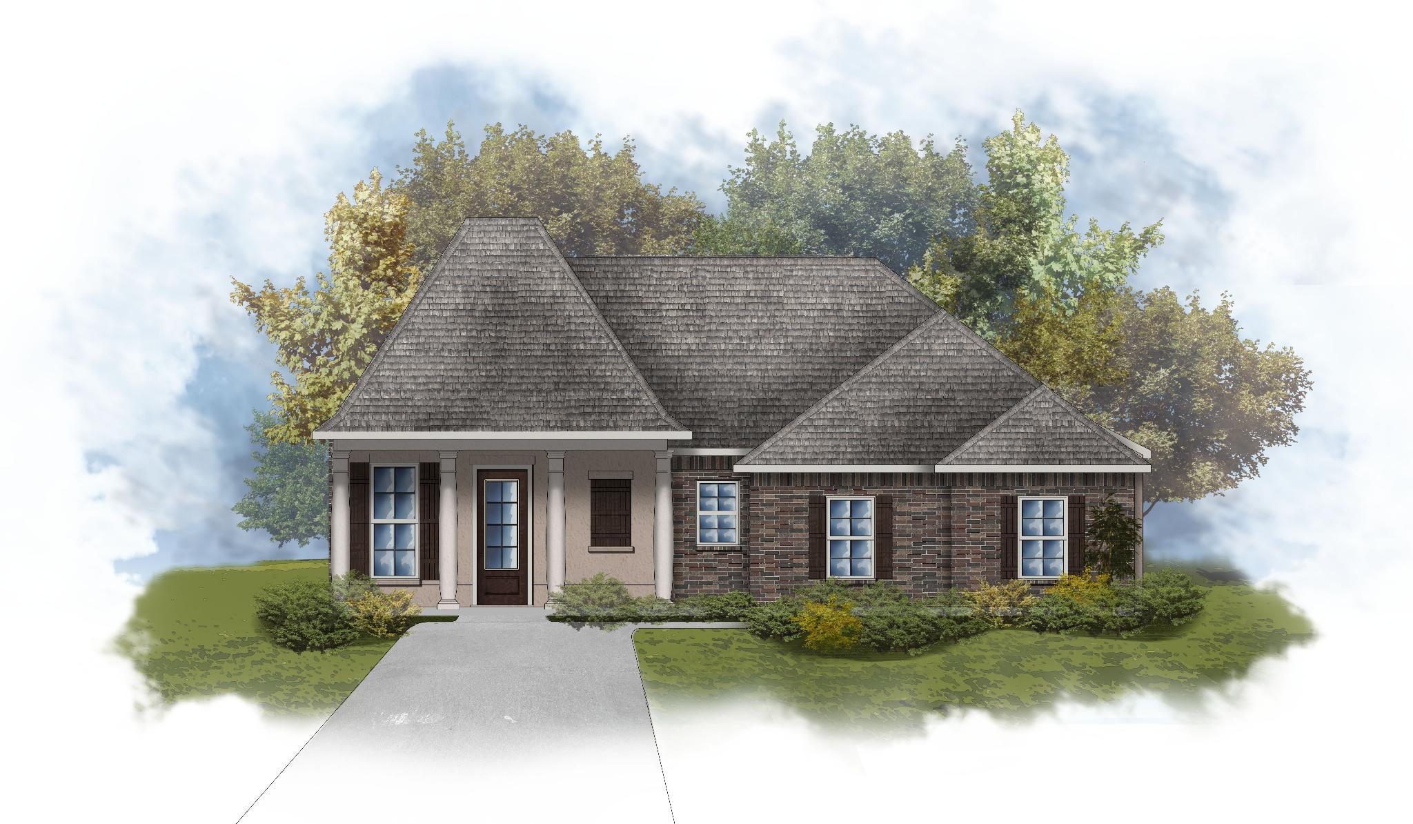 Exterior featured in the Lacombe III B By DSLD Homes - Louisiana in Monroe, LA