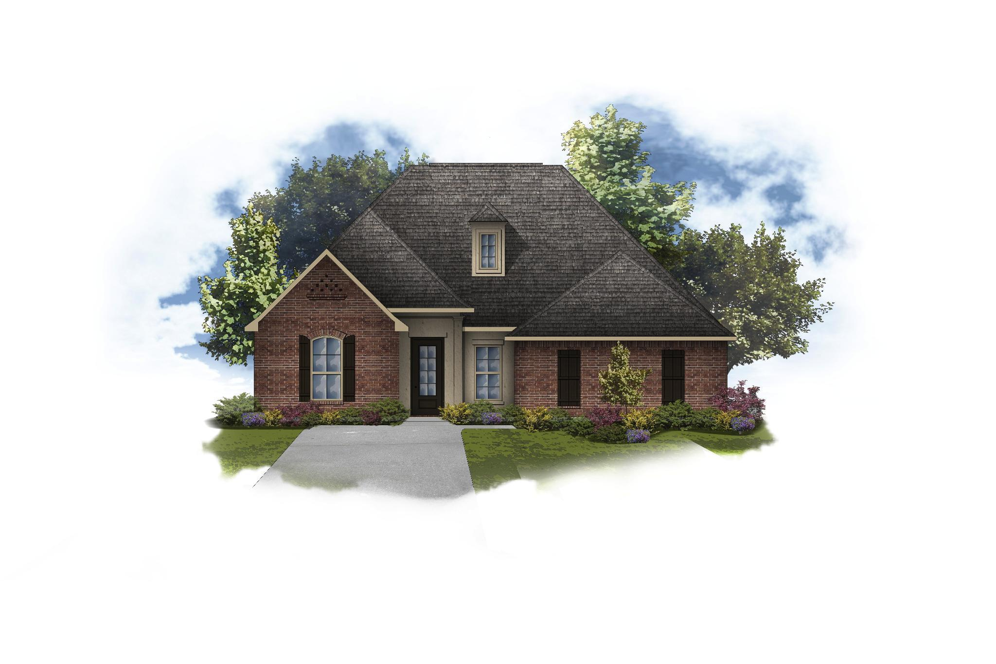 Exterior featured in the Harmand II A By DSLD Homes - Louisiana in Lafayette, LA