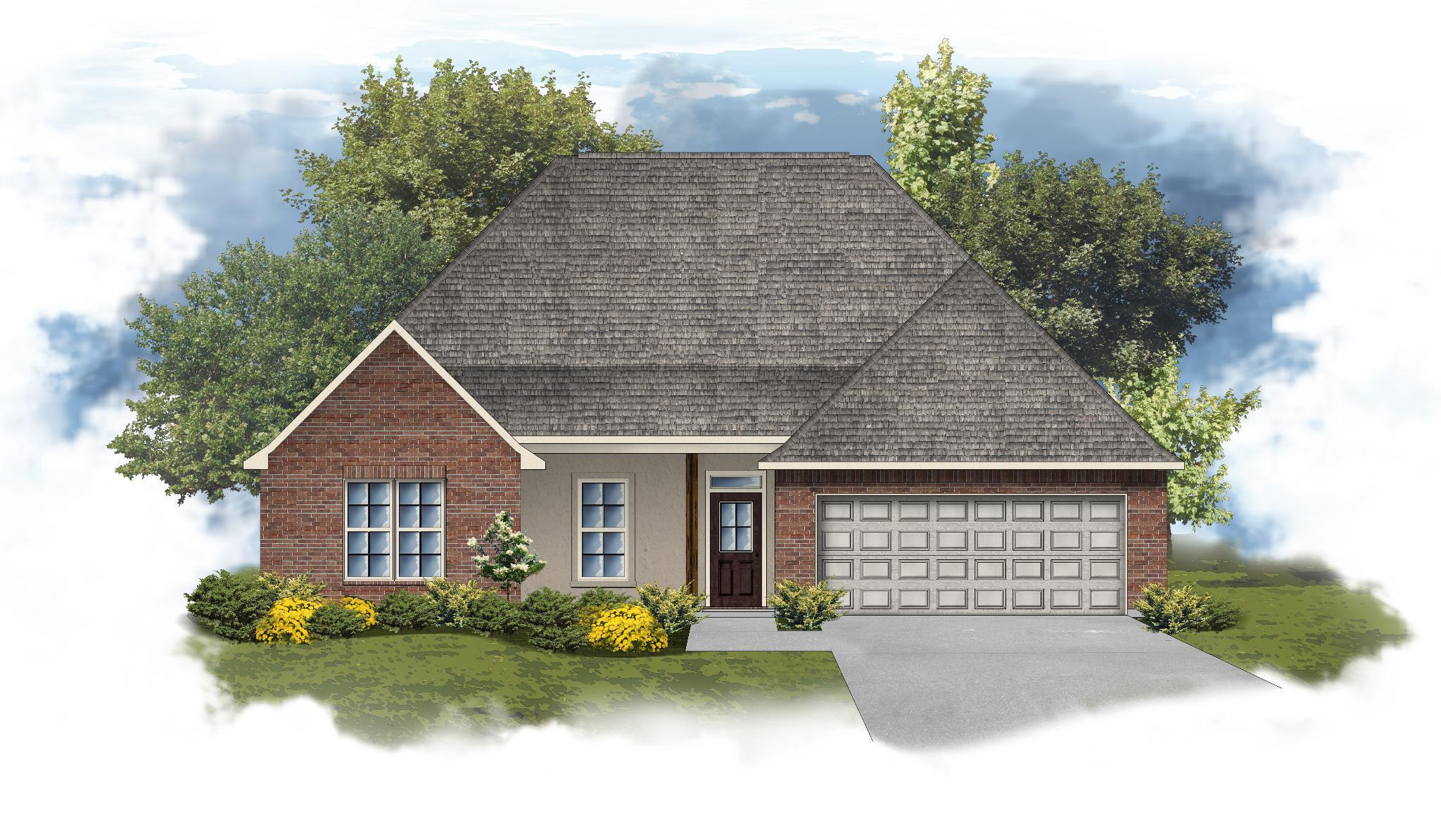 Exterior featured in the Camellia IV A By DSLD Homes - Louisiana in Monroe, LA