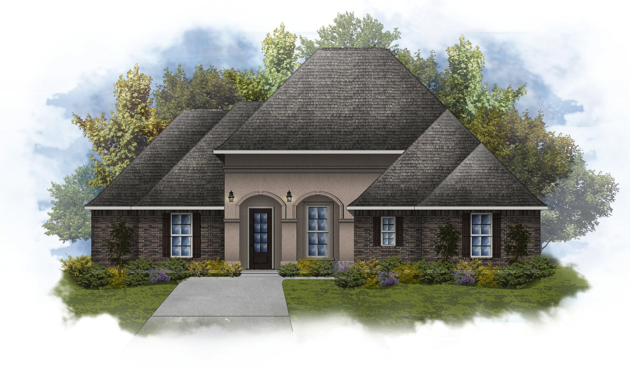 Exterior featured in the Dupre IV A By DSLD Homes - Louisiana in Baton Rouge, LA