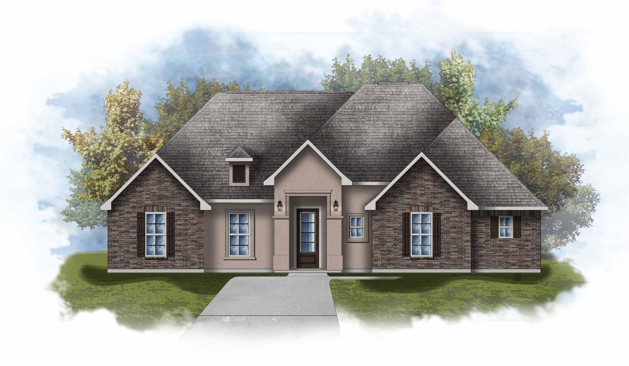 Exterior featured in the Canova III A By DSLD Homes - Louisiana in Lafayette, LA
