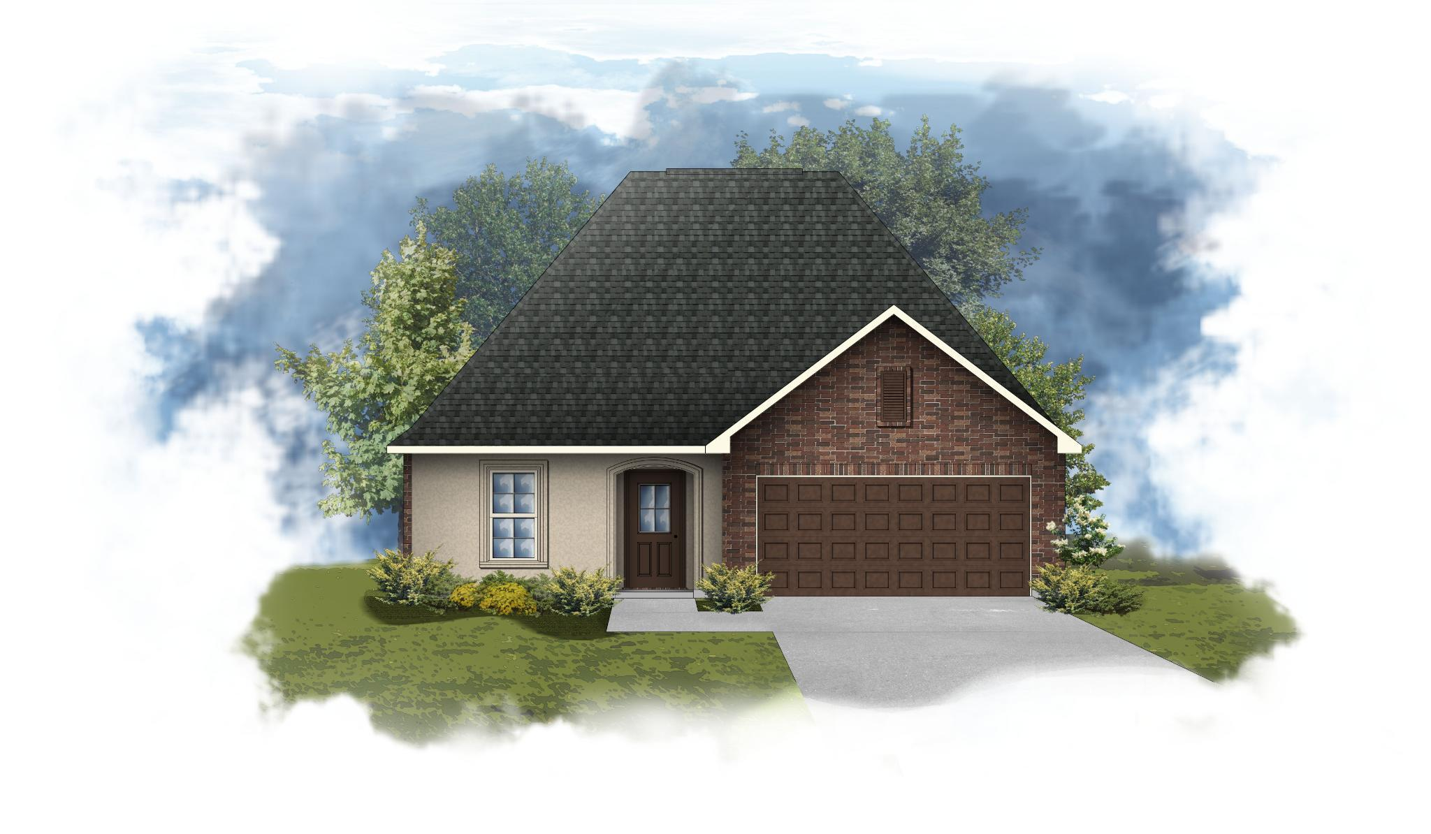 Exterior featured in the Nolana III A By DSLD Homes - Louisiana in Lafayette, LA