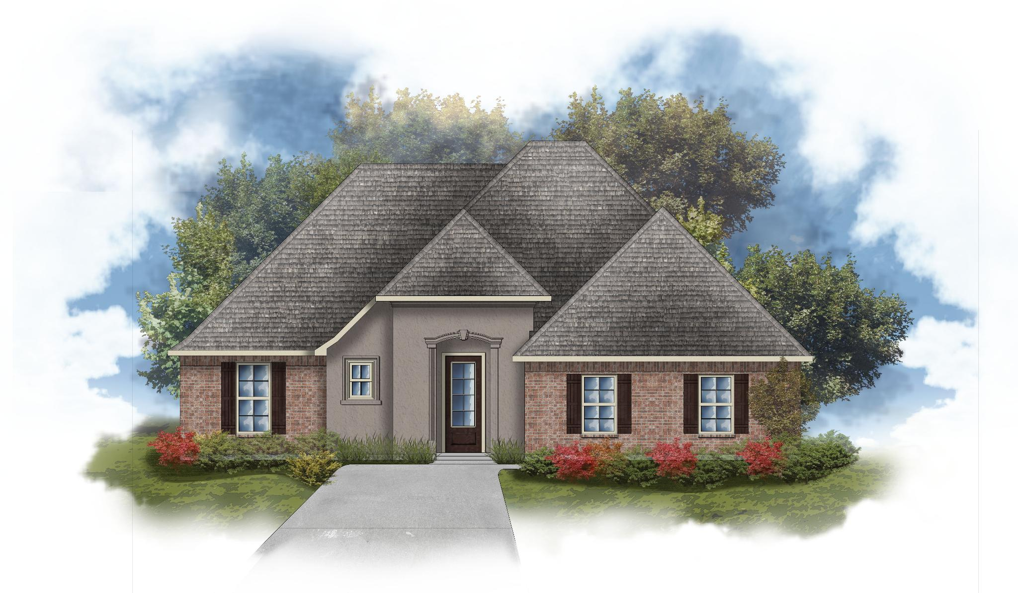 Exterior featured in the Giovanni III A By DSLD Homes - Louisiana in Baton Rouge, LA