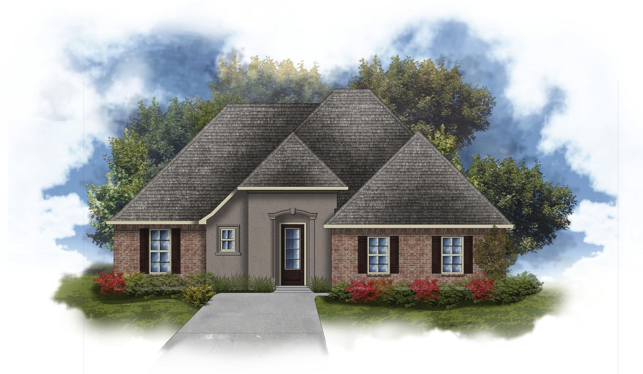 Exterior featured in the Gabriel III A By DSLD Homes - Louisiana in Lafayette, LA