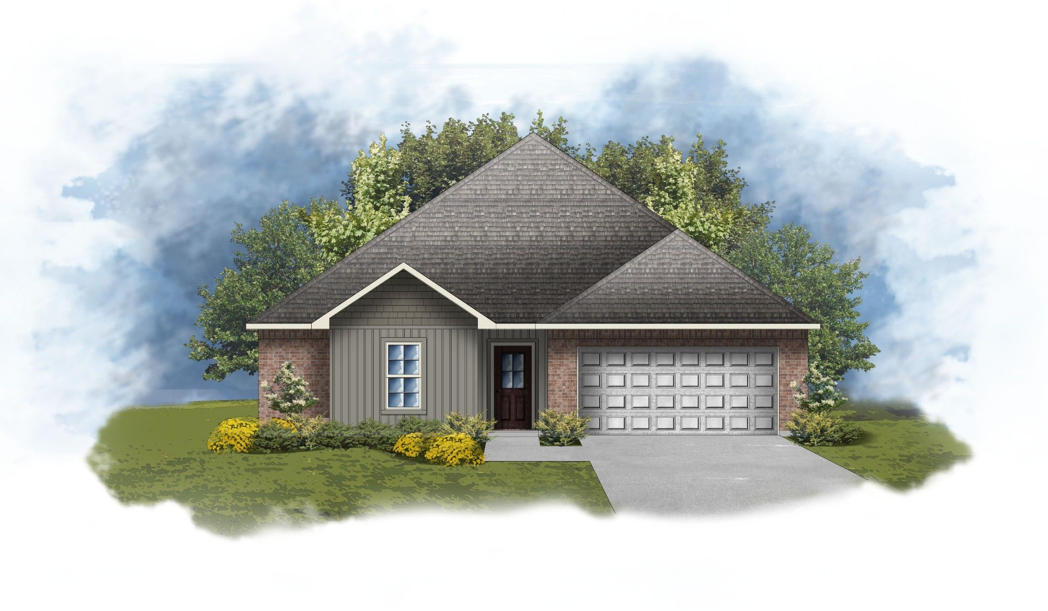 Exterior featured in the Hillsborough IV H By DSLD Homes - Louisiana in Baton Rouge, LA