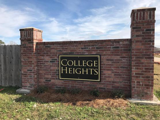 College Heights - Lake Charles- Community Sign:College Heights - Lake Charles