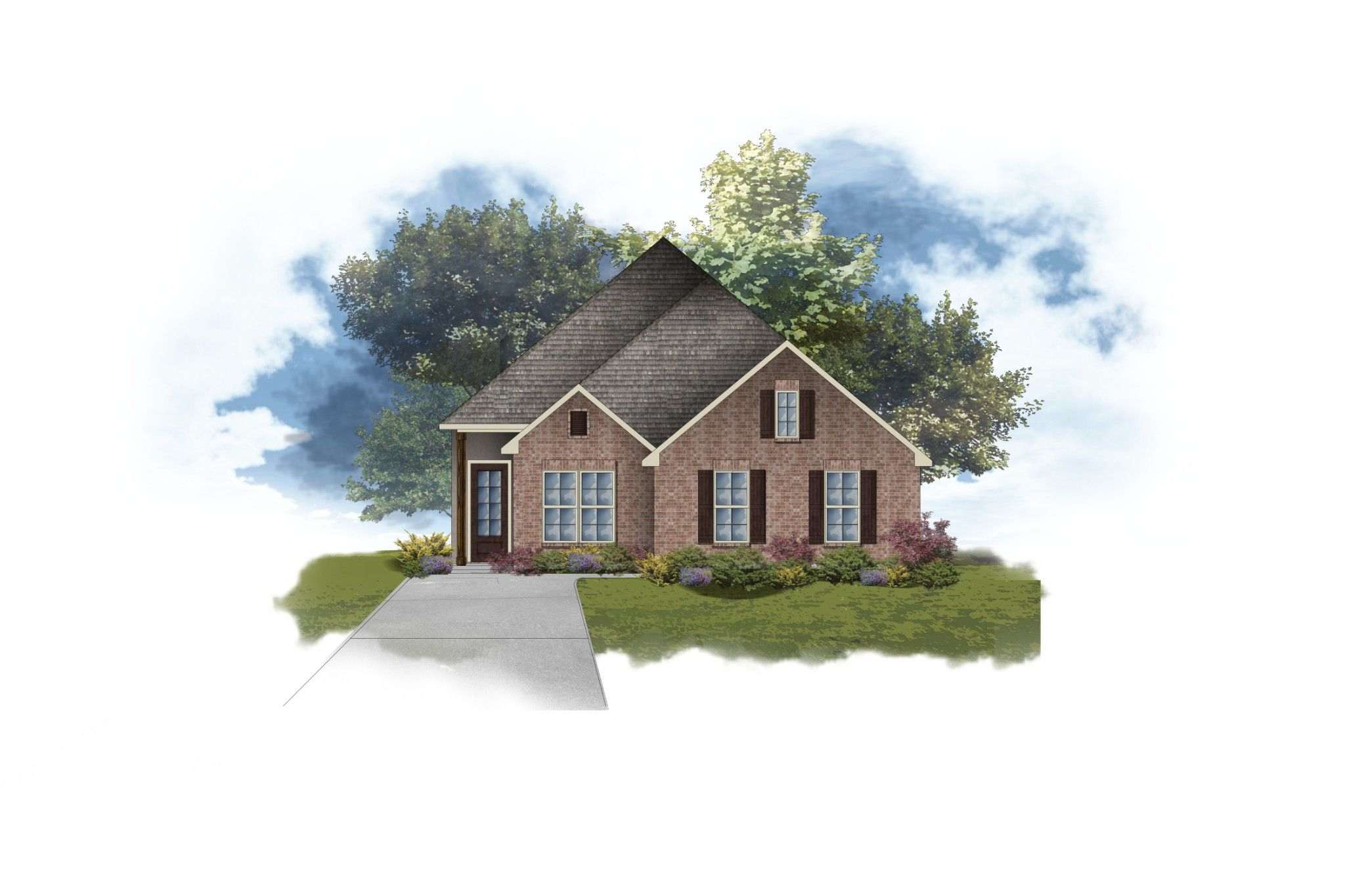 Exterior featured in the Aubry II A By DSLD Homes - Louisiana in Lafayette, LA