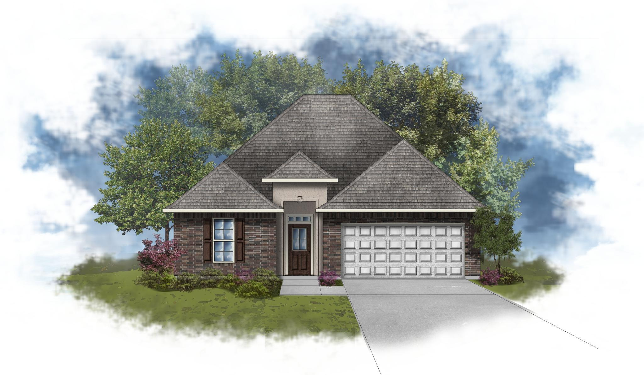 Exterior featured in the Longridge IV A - Optional Fireplace By DSLD Homes - Louisiana in Houma, LA