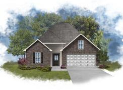 Longridge IV B - Optional Fireplace - Cottages at Savannah Row: Prairieville, Louisiana - DSLD Homes - Louisiana