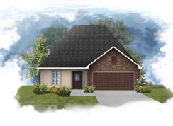 Norris III A - Optional Fireplace - Hidden Lakes Estates: Denham Springs, Louisiana - DSLD Homes - Louisiana