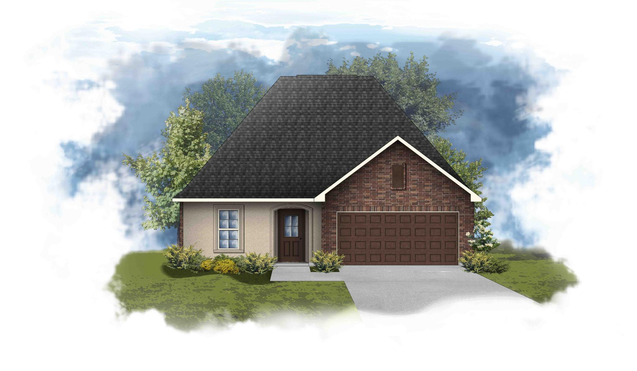 Exterior featured in the Norris III A - OF By DSLD Homes - Louisiana in Lafayette, LA