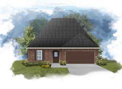 Norris III B - Optional Fireplace - Hidden Lakes Estates: Denham Springs, Louisiana - DSLD Homes - Louisiana