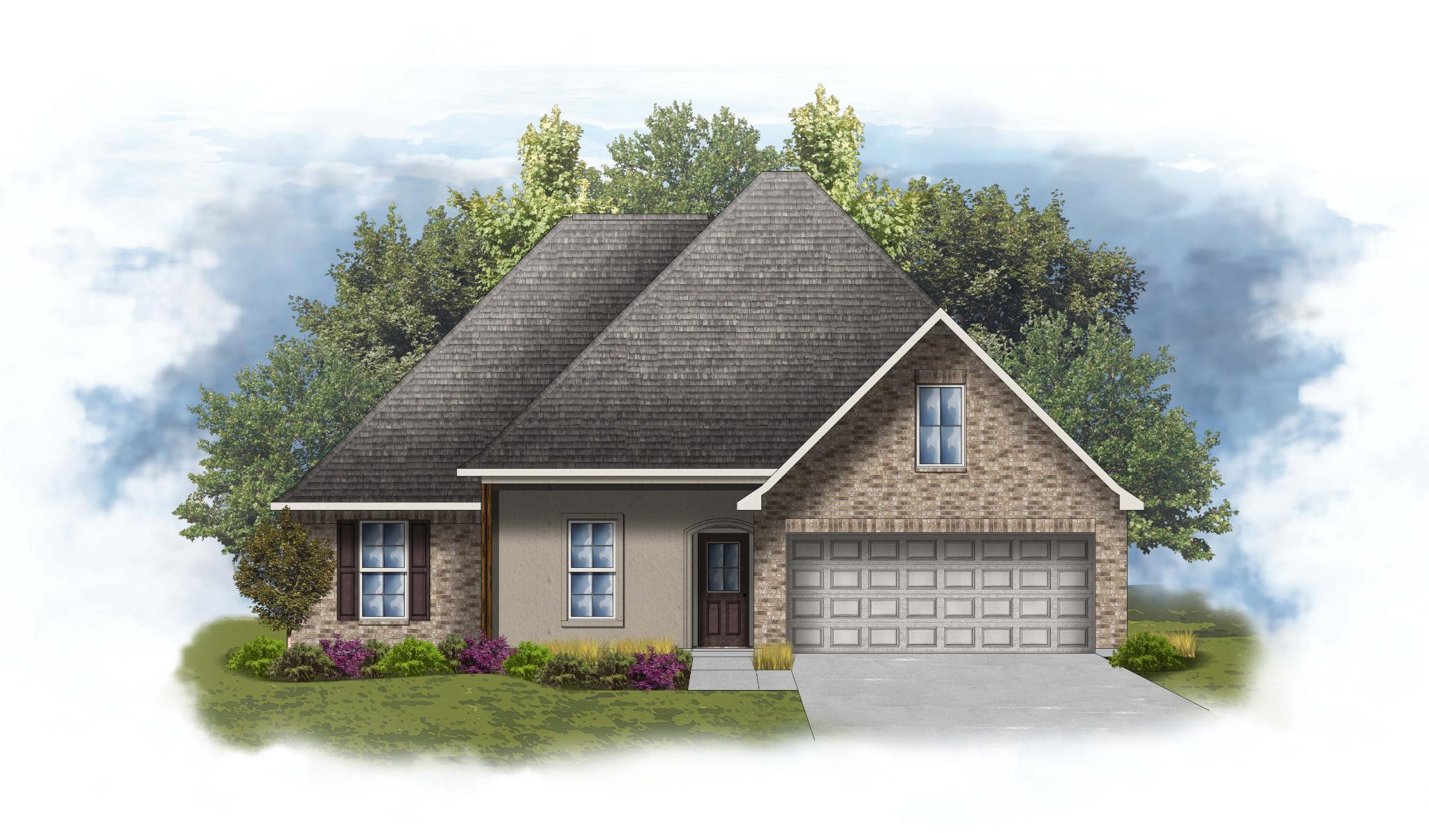 Exterior featured in the Rochelle IV B - OF By DSLD Homes - Louisiana in Baton Rouge, LA