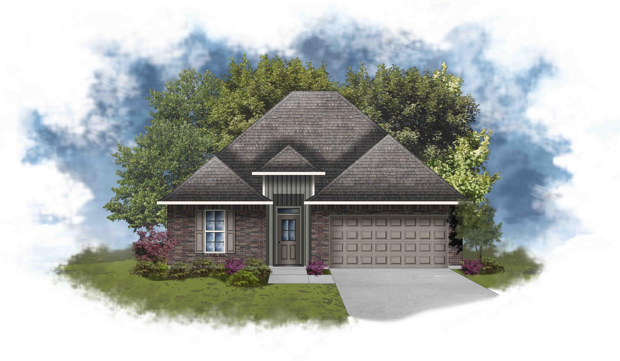 Exterior featured in the Longridge IV G - Optional Fireplace By DSLD Homes - Louisiana