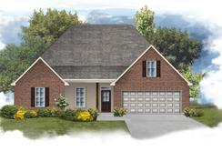 Cognac IV B - Optional Fireplace - Fairview Gardens: Zachary, Louisiana - DSLD Homes - Louisiana