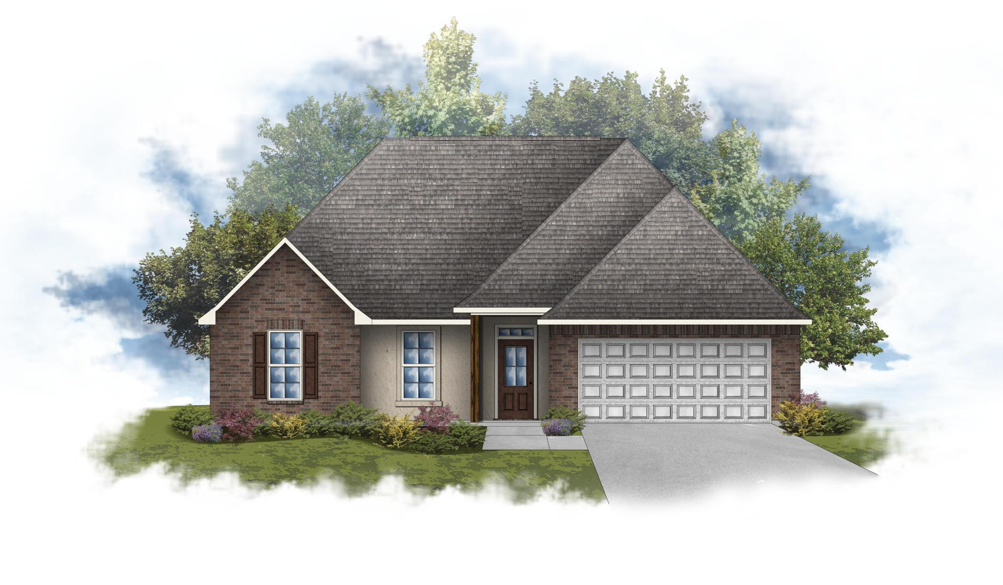 Exterior featured in the Romeno IV A By DSLD Homes - Louisiana in Lafayette, LA