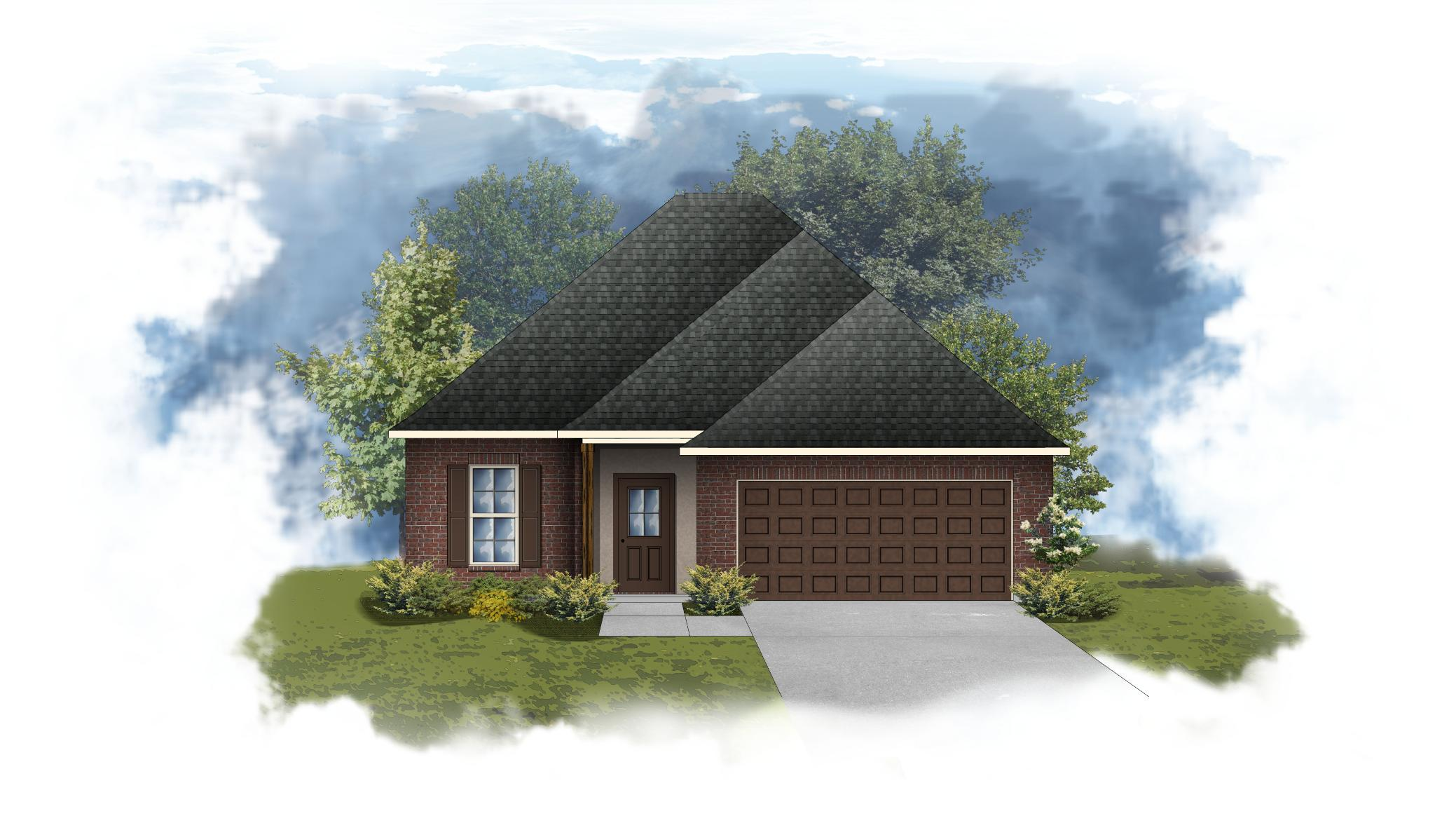 Exterior featured in the Dogwood III B - OF By DSLD Homes - Louisiana in Lafayette, LA