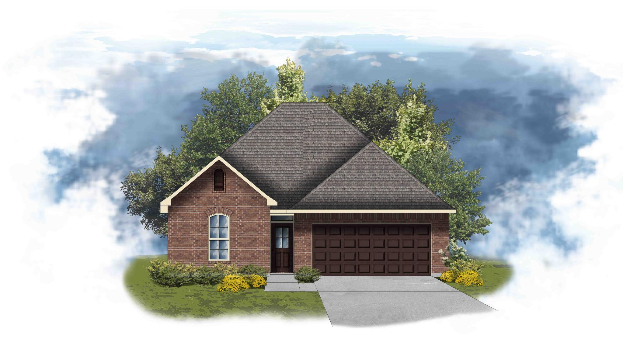 Exterior featured in the Azalea III A - OF By DSLD Homes - Louisiana in Lake Charles, LA
