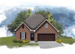 Falkner II A - Optional Fireplace - The Preserve at Gray's Creek: Denham Springs, Louisiana - DSLD Homes - Louisiana