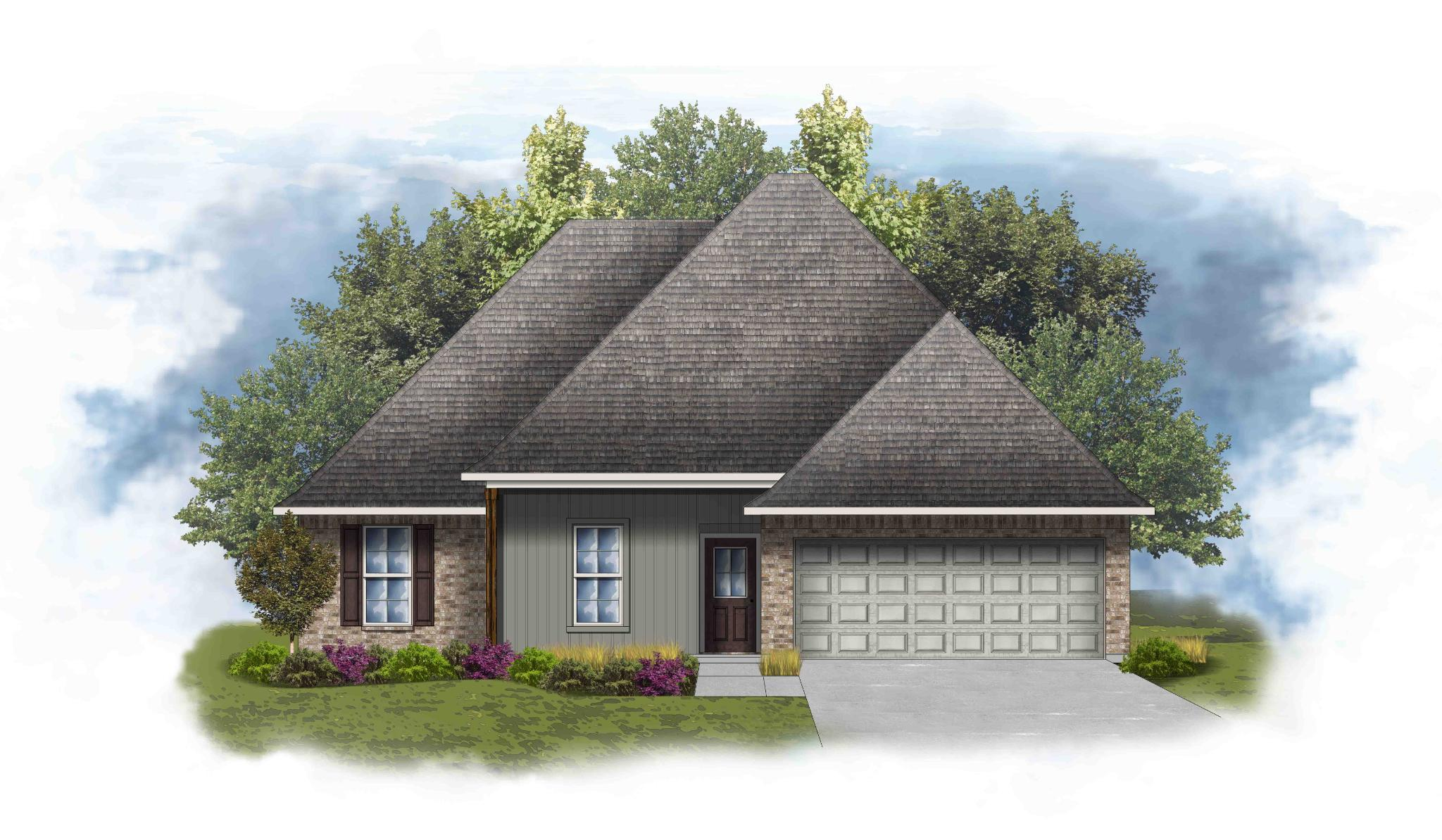 Exterior featured in the Roxboro IV G - Optional Fireplace By DSLD Homes - Louisiana