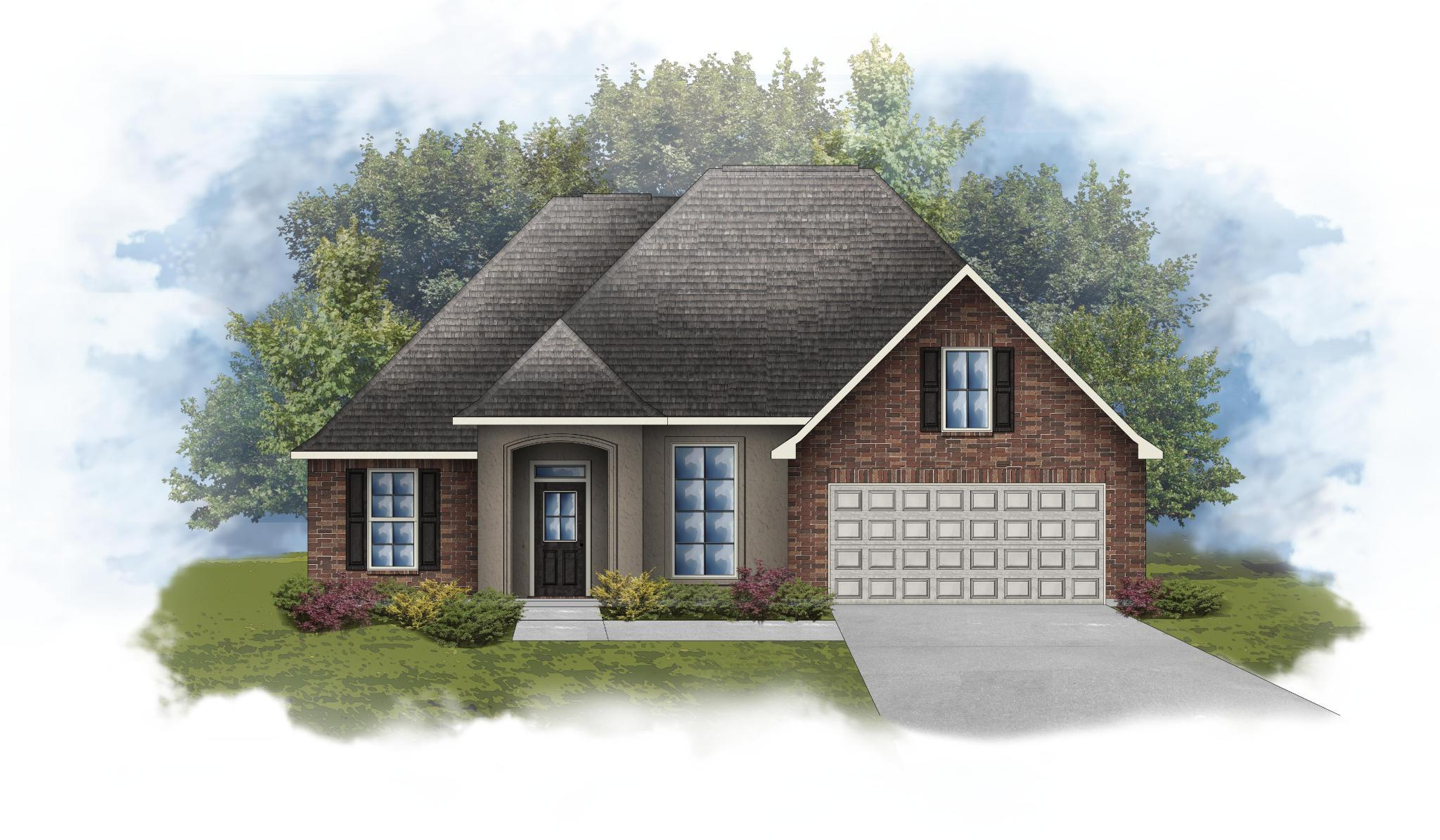 Exterior featured in the Roses IV A - Optional Fireplace By DSLD Homes - Louisiana in Lafayette, LA