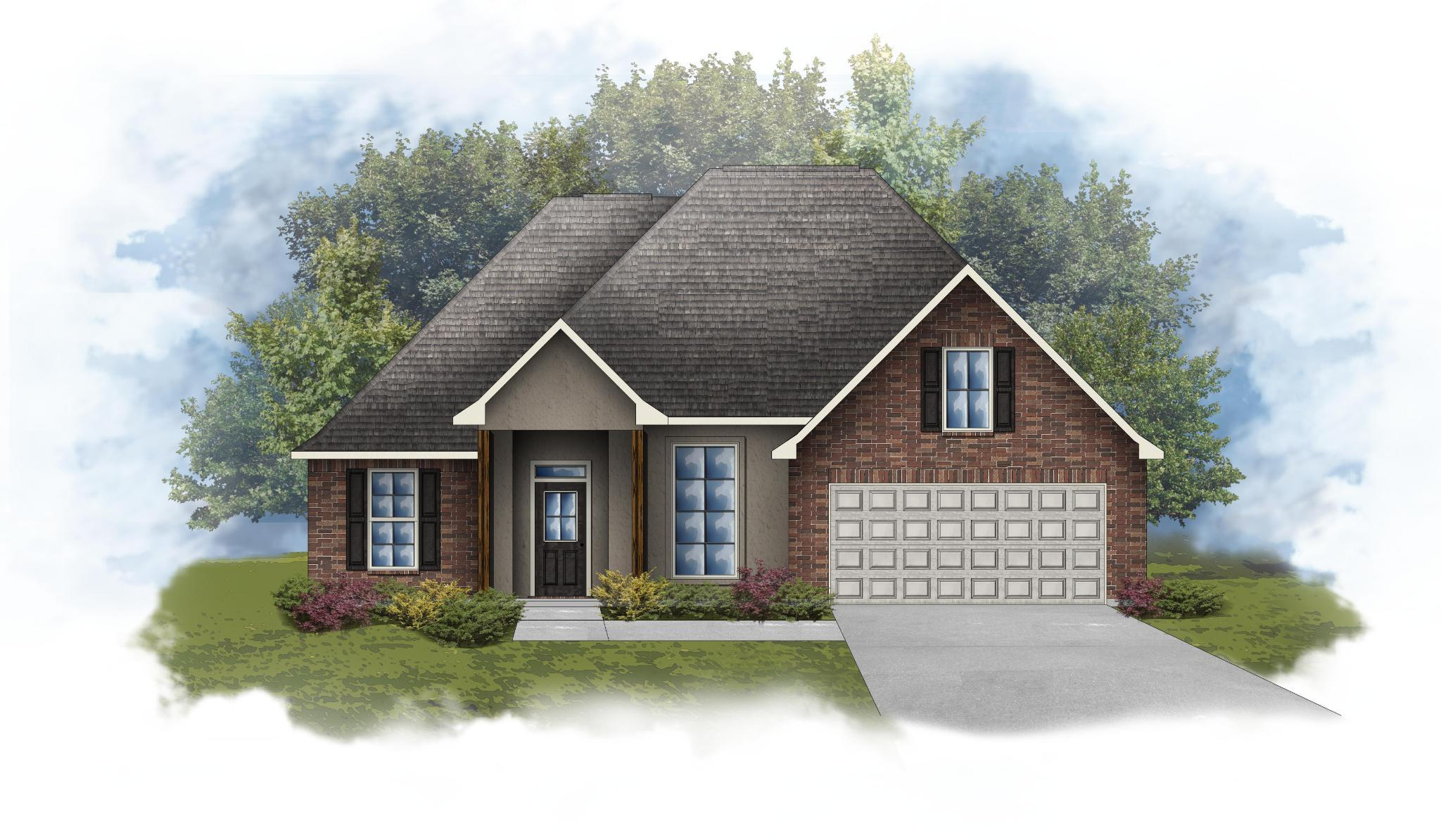 Exterior featured in the Roses IV B - Optional Fireplace By DSLD Homes - Louisiana in Lafayette, LA