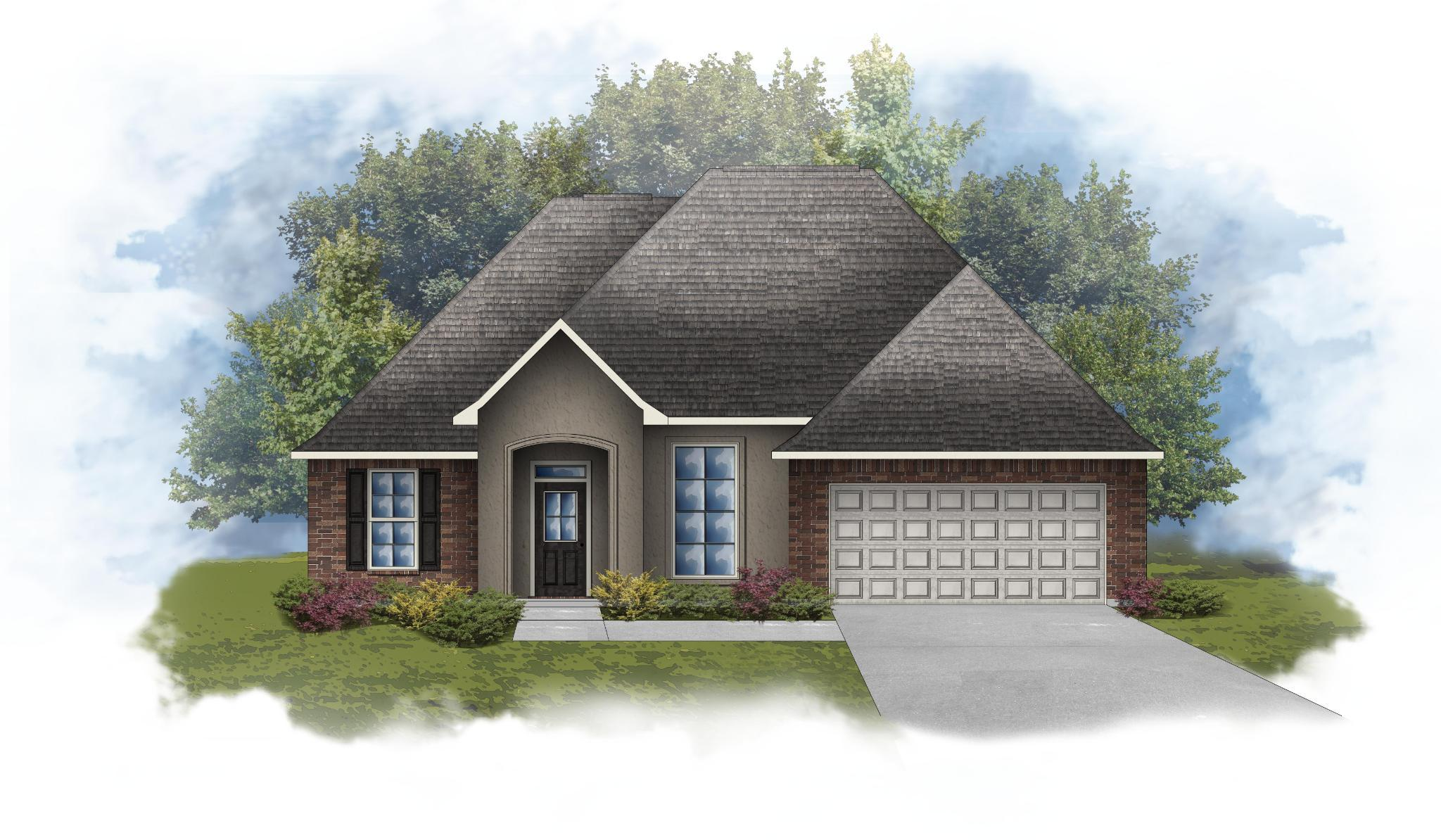 Exterior featured in the Roses IV C - Optional Fireplace By DSLD Homes - Louisiana in Lafayette, LA