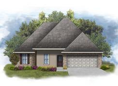 Irises IV A - Optional Fireplace - The Preserve at Gray's Creek: Denham Springs, Louisiana - DSLD Homes - Louisiana