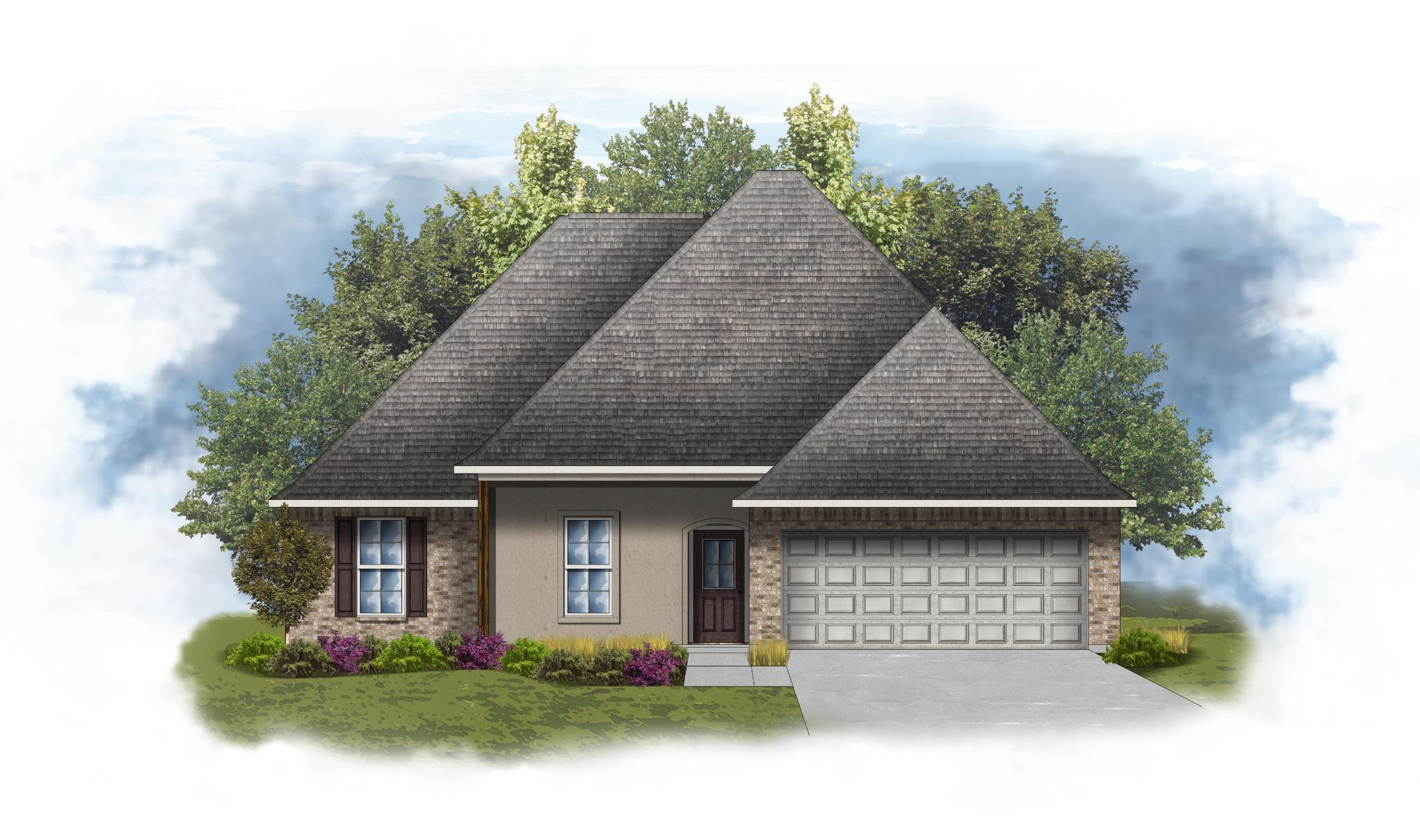 Exterior featured in the Irises IV A - Optional Fireplace By DSLD Homes - Louisiana